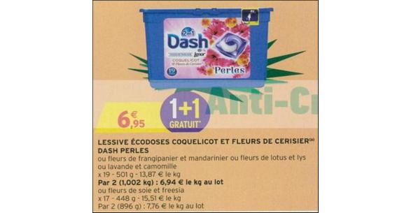 Bon Plan Lessive Dash Perles chez Intermarché - anti-crise.fr