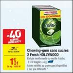 Bon Plan Chewing-gum 2 Fresh Hollywood chez Carrefour - anti-crise.fr