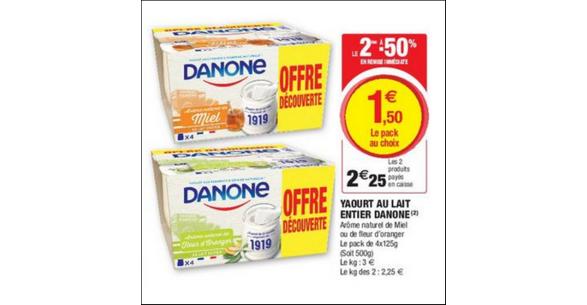 """Résultat de recherche d'images pour """"pack de yaourt super promo"""""""