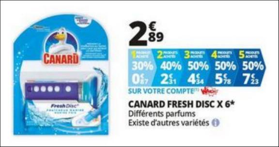 Bon Plan Boitier Canard Fresh Disc chez Auchan - anti-crise.fr