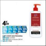 Bon Plan Lait Corps Neutrogena chez Auchan - anti-crise.fr