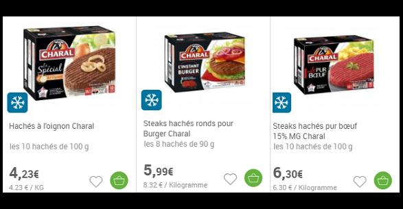 Bon Plan Viande Hachée Surgelée Charal Partout Jusqu'au 24 mars 2018 - anti-crise.fr