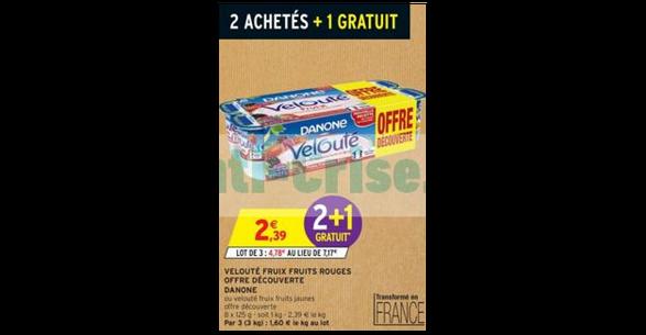 Bon Plan Yaourts Velouté Fruix chez Intermarché - anti-crise.Fr