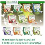 Offre de Remboursement Naturactive : 4€ sur 2 Boîtes de Sticks Fluide - anti-crise.fr