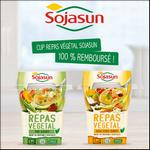 Offre de Remboursement Sojasun : Cup Repas Végétal 100% Remboursé sur Quoty - anti-crise.fr
