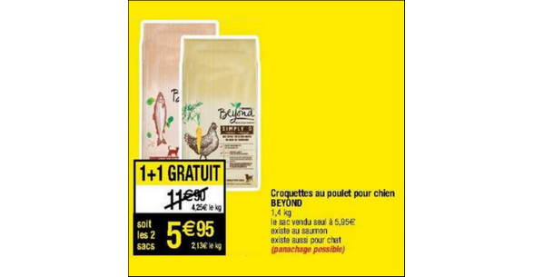 Bon Plan Croquettes pour Chien ou Chat Beyond chez Cora - anti-crise.fr
