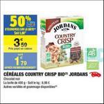 Bon Plan Céréales Country Crisp Bio Jordans chez Carrefour Market - anti-crise.fr