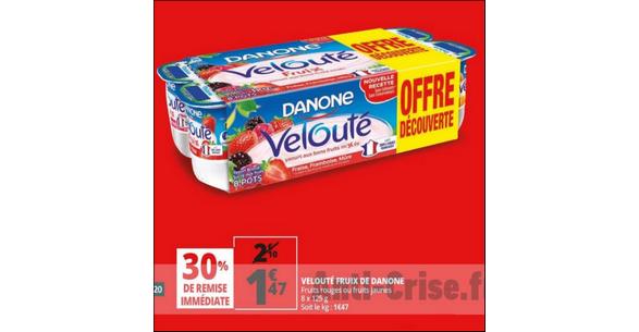 Bon Plan Yaourts Velouté Fruix Danone chez Auchan - anti-crise.fr