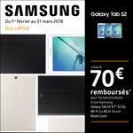 Offre de Remboursement Samsung : Jusqu'à 70€ remboursés sur Tablette Galaxy Tab S2 + Book Cover - anti-crise.fr