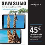 Offre de Remboursement Samsung : Jusqu'à 45€ Remboursés sur Tablette Galaxy Tab A - anti-crise.fr
