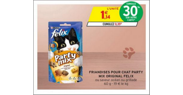 Bon Plan Friandises Felix Party Mix chez Intermarché - anti-crise.fr