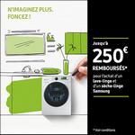 Offre de Remboursement Samsung : Jusqu'à 250€ remboursés sur Lave-linge et Sèche-linge - anti-crise.fr