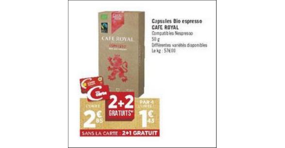 Bon Plan Café Royal pour Nespresso chez Géant Casino - anti-crise.fr