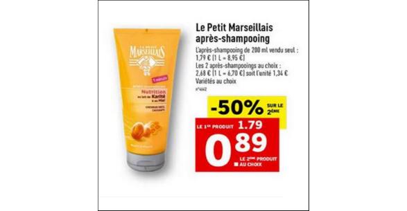 Bon Plan Après-Shampooing Le Petit Marseillais chez Lidl - anti-crise.fr