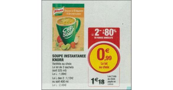 Bon Plan Cup à Soup Knorr chez Magasins U - anti-crise.fr
