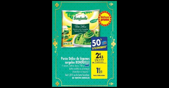 Bon Plan Purée Surgelée Bonduelle chez Carrefour (06/03 - 12/03) - anti-crise.fr