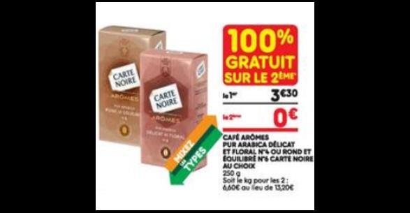 Bon Plan Café Moulu Carte Noire Arômes chez Leader Price (27/02 - 11/03) - anti-crise.fr