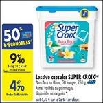 Bon Plan Lessive Super Croix Caps chez Carrefour (06/03 - 12/03) - anti-crise.Fr
