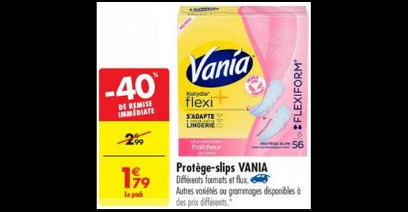 Bon Plan Protège-Slips Vania Kotydia chez Carrefour (26/02) - anti-crise.fr