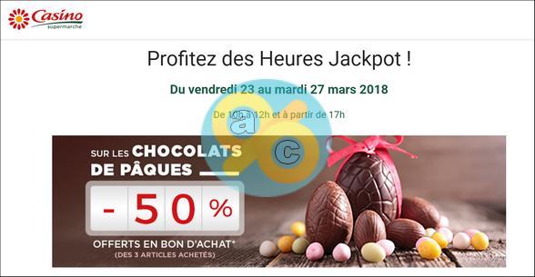 Bon Plan Chocolats de Pâques : 50% chez Casino avec les Heures Jackpot - anti-crise.fr