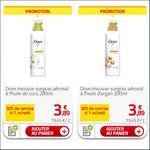 Bon Plan Mousse de Douche Aérosol Dove chez Auchan - anti-crise.fr