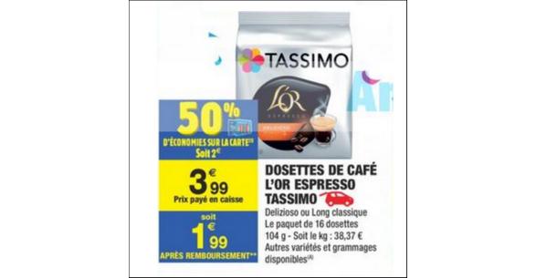 Bon Plan Capsules Tassimo L'Or Espresso chez Carrefour Market - anti-crise.fr
