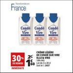 Bon Plan Crème Légère Condé sur Vire Elle & Vire chez Auchan - anti-crise.fr