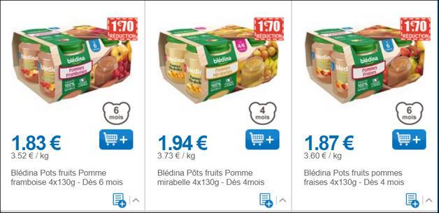 Bon Plan Pots de Fruits Blédina à moins de 0,20€ chez Leclerc - anti-crise.fr