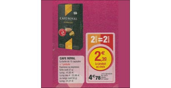 Bon Plan Café Royal pour Nespresso chez chez Magasins U - anti-crise.fr