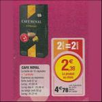 Bon Plan Café Royal pour Nespresso chez Magasins U (09/03 - 10/03)