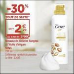 Bon Plan Mousse de Douche Surgras Dove chez Géant Casino - anti-crise.fr