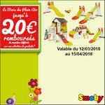 Offre de Remboursement Smoby : Jusqu'à 20€ Remboursés sur le Plein Air - anti-crise.fr