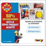 Offre de Remboursement Smoby : 50% sur le 2ème Produit Sam le Pompier - anti-crise.fr