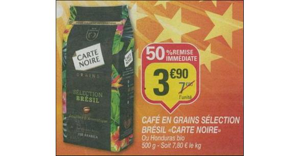 Bon Plan Café en Grains Brésil ou Honduras Carte Noire chez Netto - anti-crise.fr