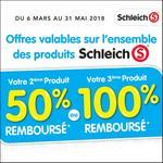 Offre de Remboursement Schleich : Jusqu'à 100% Remboursé sur le 3ème - anti-crise.fr