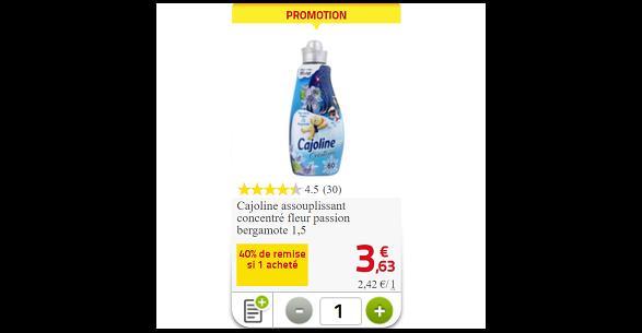 Bon Plan Adoucissant Cajoline chez Auchan (07/03 - 13/03) - anti-crise.fr