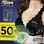 Offre de Remboursement Dim : Votre Soutien-Gorge Beauty Lift 50% Remboursé - anti-crise.fr