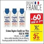 Bon Plan Crème Légère Condé sur Vire Elle & Vire chez Carrefour (06/03 - 12/03) - anti(crise.fr