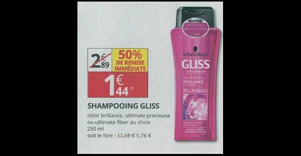 Bon Plan Shampooing Gliss chez Auchan Supermarché (07/03 - 18/03) - ati-crise.fr