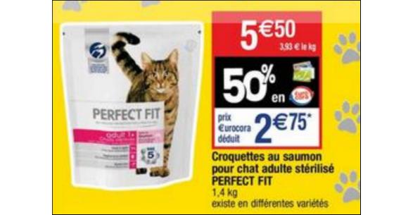 Bon Plan Croquettes pour Chat Perfect Fit chez Cora - anti-crise.fr