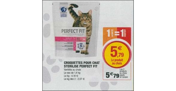 Bon Plan Croquettes pour Chat Perfect Fit chez Magasins U - anti-crise.fr