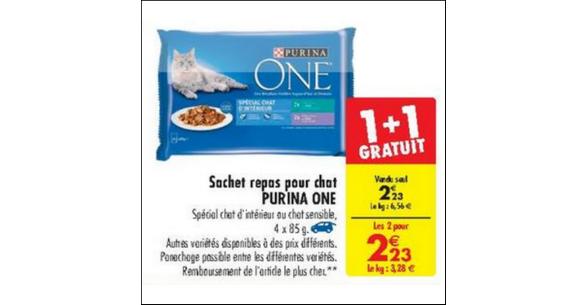 Bon Plan Sachet Repas Purina One chez Carrefour - anti-crise.fr