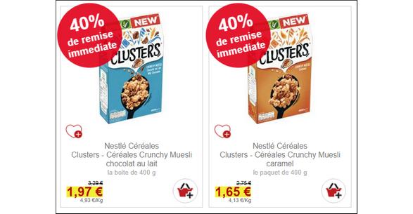 Bon Plan Céréales Clusters Crunchy Muesli chez Intermarché - anti-crise.fr