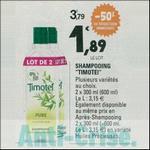 Bon Plan Shampooing ou Après-Shampooing Timotei chez Leclerc - anti-crise.fr