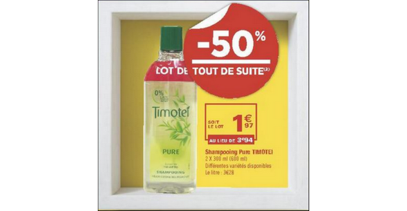 Bon Plan Shampooing Timotei chez Géant Casino - anti-crise.fr