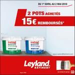 Offre de Remboursement Leyland : 15€ Remboursés sur la Peinture Murs & Plafonds - anti-crise.fr