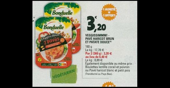 Bon Plan Pavés Veggissimmm! Bonduelle chez Leclerc (02/05 - 12/05) - anti-crise.Fr