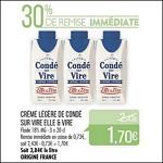 Bon Plan Crème Légère Condé sur Vire Elle & Vire chez Match (10/04 - 22/04) - anti-crise.Fr