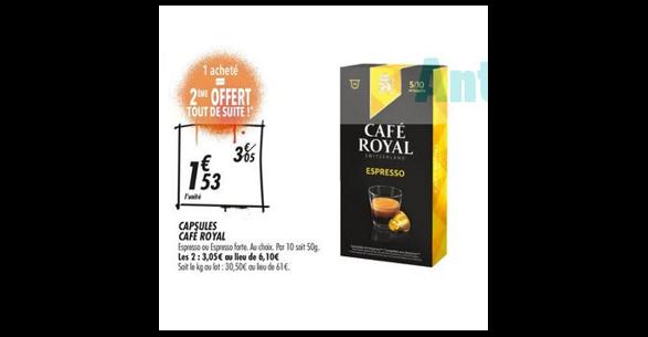 Bon Plan Capsules Café Royal pour Nespresso chez Franprix (05/09 - 16/09) - anti-crise.fr