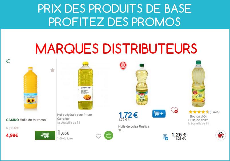 Profiter des promos sur les produits de base